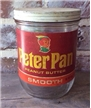 Vintage Peter Pan Peanut Butter Glass Jar - Collectible Advertising
