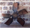 Old Vintage Metal Tractor / Truck Fan Blade - Industrial Steampunk Decor 18""