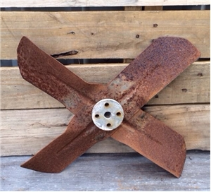 Old Vintage Metal Automobile Radiator Fan Blade - Industrial Steampunk Decor