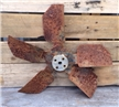 Old Vintage Metal Radiator Fan Blade - Industrial Steampunk Decor Car Truck