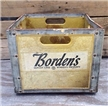 Vintage Bordens Milk Dairy Bottle Crate - Midland Texas Tx Metal Frame
