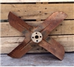 Old Vintage Metal Radiator Fan Blade - Industrial Decor Car Truck Tractor