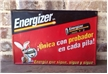 Vintage Energizer Battery Bunny Metal Tin Sign Embossed - Mexico Mexican Sigue