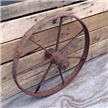 Vintage Cast Iron Metal Wagon Wheel - Antique Farm Garden Yard Art Decor 18""