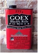 Vintage Fffg Goex Black Rifle Powder Tin Can - Hunting Fishing Cabin Decor