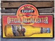 Large Vintage MGD Miller Light Beer Bar Metal Tin Sign - Official Darting Center
