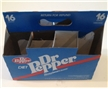 Vintage Diet Dr Pepper Nutra Sweet 8 Pack Cardboard Bottle Carrier 16 Oz