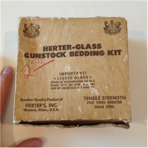 Vintage Herter-Glass Gunstock Bedding Kit Waseca Mn Box With Contents Hunting