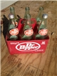 Vintage 1970's Dr Pepper 6-Pack Plastic Carrier With 32oz -Size Bottles