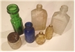 Vintage Group Lot Of 7 Medicine Bottles - Vaseline, Hinds, Wheaton, Emerson