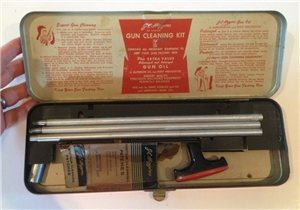 Vintage JC Higgins Sears Roebuck Gun Cleaning Tool Box Kit Metal Tin - Hunting