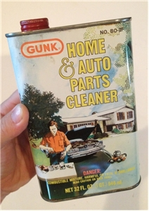 Vintage Gunk Auto Parts Tin Metal Oil Gas Collectible Can 32 Oz Radiator Co