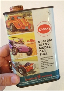 Vintage Cox Model Car Fuel Oil Can Tin Metal Poison Pint Leisure Dynamics