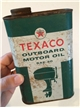 Vintage Texaco Outboard Motor Oil Sae 30 Metal Tin Collectible Can