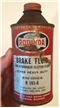 Vintage Rotunda Ford Motor Co Brake Fluid Metal Tin Can Cone Top