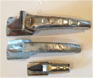 3 Different Size Old Vintage Metal Oil Spouts