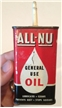 Vintage All-Nu General Use Metal Tin Oil Can Oiler Guns Fishing Fans Bikes Mower