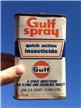 Vintage Gulf Oil Co Gulg Spray Insecticide Tin Metal Can 1 Quart
