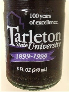 Collectible Tarleton State University Stephenville Texas Dr Pepper Soda Bottle