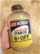 Vintage Sun Products Co Easy Monday Starch Glass Bottle W/Cap Waco Texas