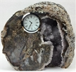 Large Crystal Natural Agate Table | Desk Clock Decor