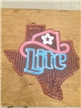 Large Texas Miller Lite Beer Tin Metal Sign 37