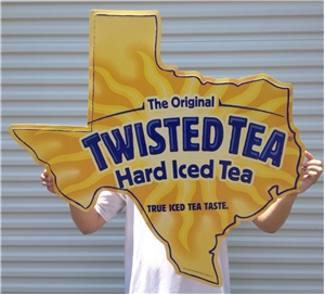 Original Twisted Hard Iced Tea Beer Tin Metal Sign Texas Tx