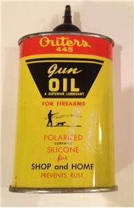 Vintage Collectible Outers Gun Oil Tin Metal Can Onalaska Wisconsin Cabin Decor