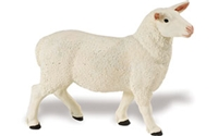 Safari Farm Ewe Model Toy, Sheep toy, Sheep model, kids plastic Sheep  replica, wild safari animals