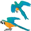 Wild Safari Wings of the World Gold and Blue Macaw Toy Model
