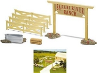 Wild Safari River Ranch Set, ranch toys, kids ranch gift set, Safari Farm collectibles and farm toy