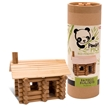 Panda's Pick Bamboo Builders - Go Green,  Wooden building toys by Schylling, Log cabin
