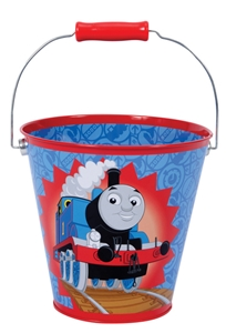 Thomas Tin Pail by Schylling, beach pail, sand box pail, garden pail, kids thomas collectible