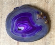 Large Purple White Agate Slab Sliced Polished 4.75""