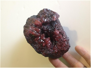 Red Colored Amethyst Cave 1.3 lb