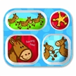 Child Tray, Food Tray, Horse Tray, Horses, Melamine Tray Horse, Kids Tray, Eating Utensils