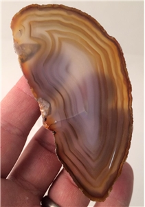 Small Agate Slab Polished- Tan/Brown