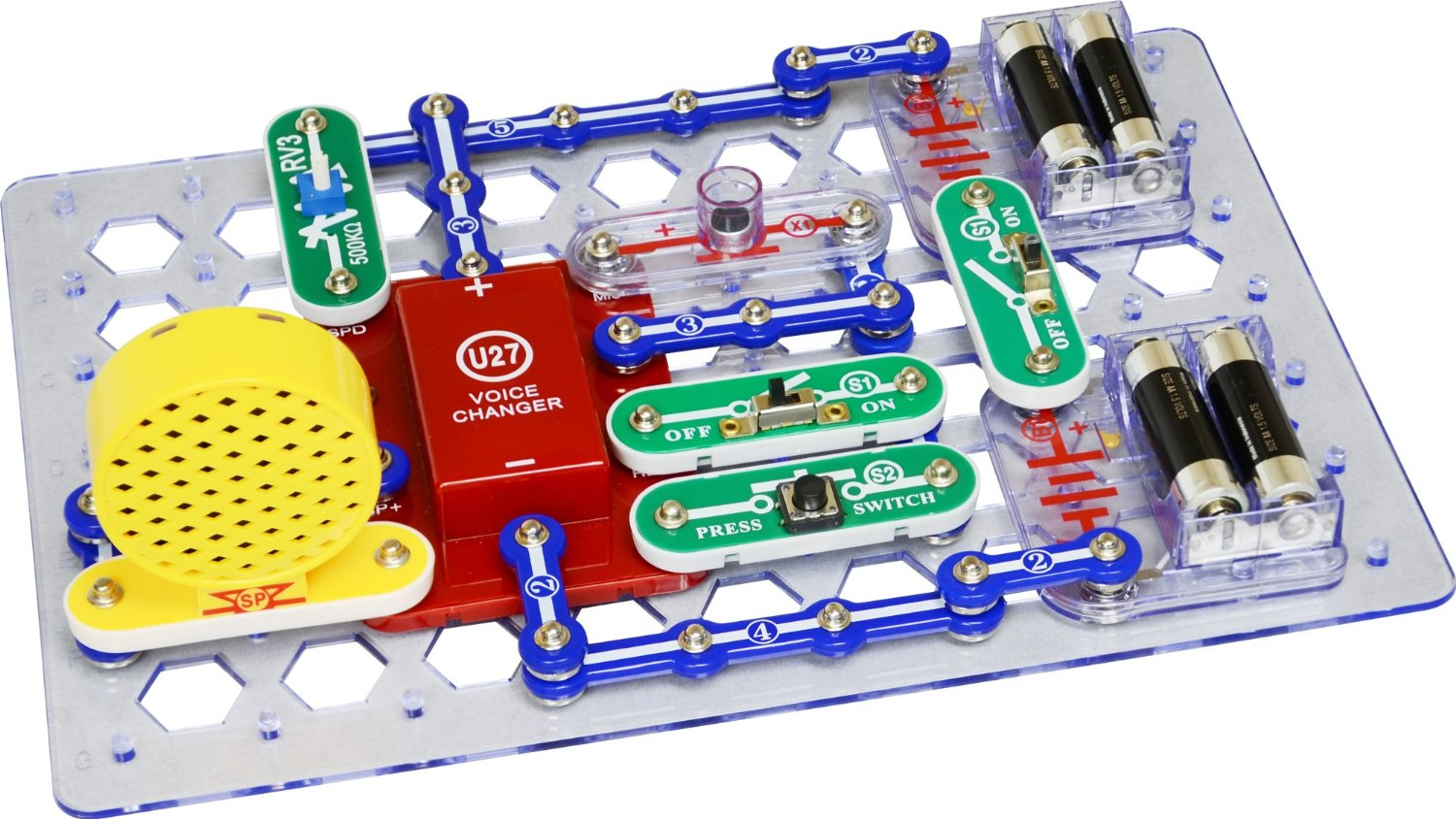 Elenco Electronics Snap Circuits Ask Answer Wiring Diagram Scg125 Green Alternative Energy Kit Learning Sound R Deluxe Light Combo Electronic