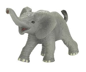 Wild Safari Wildlife African Elephant Baby Trumpeting Replica