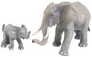 Wild Safari Wildlife Elephant Baby Replica Toy Model