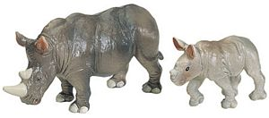 Wild Safari Wildlife White Rhino Baby Replica Toy Model