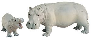 Wild Safari Wildlife Hippopotamus Baby Replica Toy Model