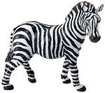 Wild Safari Wildlife Zebra Adult Replica Toy  Model