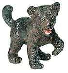 Retired Wild Safari Panther Cub Replica Toy