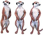 Wild Safari Three Meerkats Set Replica Toy