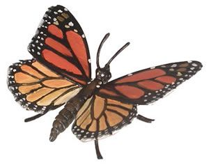 Monarch Butterfly Hidden Kingdom Insects, butterfly toys, butterfly model, plastic butterfly toy, bu