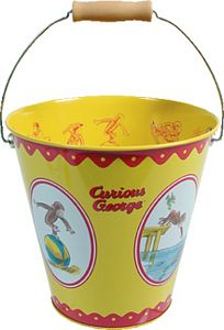 Curious George Metal Sand Beach Pail