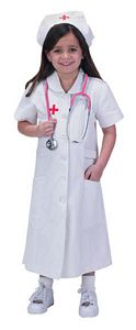 Jr. Nurse Suit with Cap-Child Size 12/14