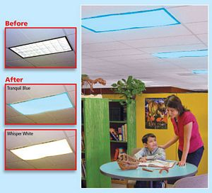Classroom Light Filters Whisper White - Set of 4