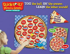 Stick To It Phonics Game-Short Vowels